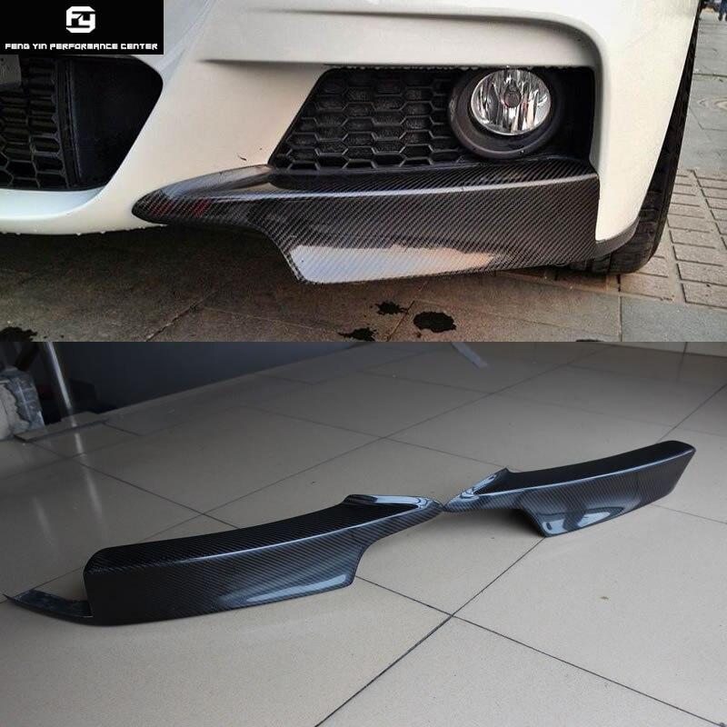 F30 3 série MP style Fiber de carbone Auto voiture pare-chocs avant tabliers séparateur latéral pour BMW F30 320i 330i M-TECH pare-chocs 13-18