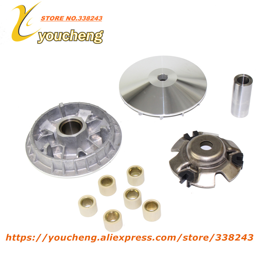 Water cooled CF250 Engine Motorcycle ATV High Performance Variator Kit with Roller Drive Pulley Scooter Moped