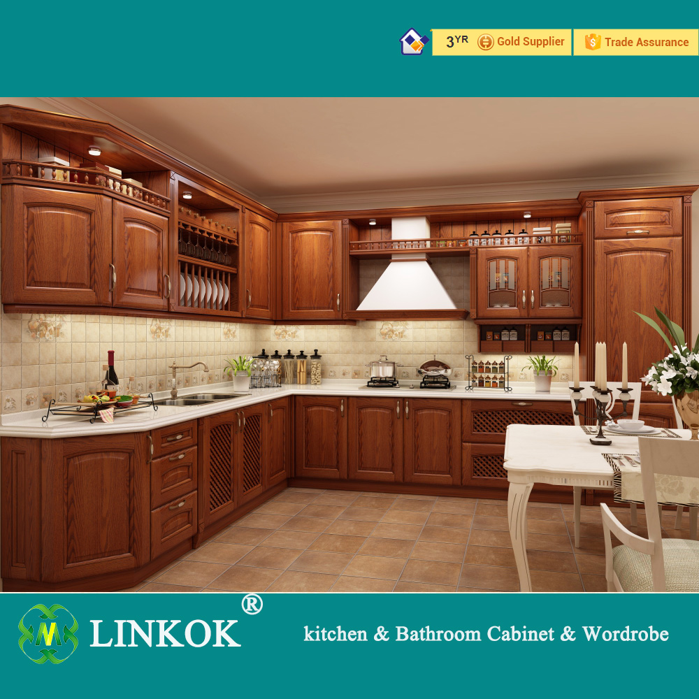 Cabinet kitchen furniture maple china bathroom cabinet cabinet - Linkok Furniture Wholesale Cheap China Blinds Factory Directly Maple Painted Solid Wood Kitchen Cabinets