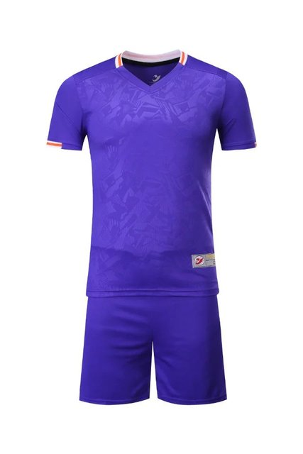 2017 Violet  Boys Kids Training T-shirts children sets runing football kits soccer team jersey Sports Athletic wear polo shirt