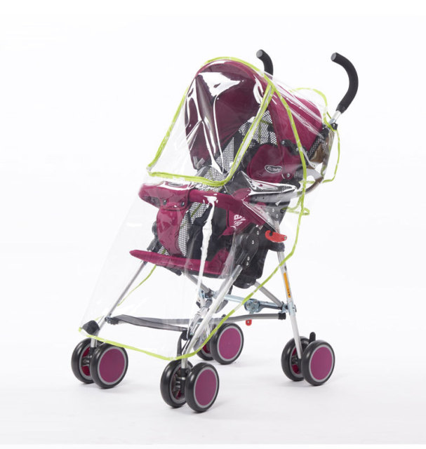 Windproof Rain Cover Babies Stroller Special Dustproof Raincoat Big Cart High Landscape Special Rain Pushchairs Accessories