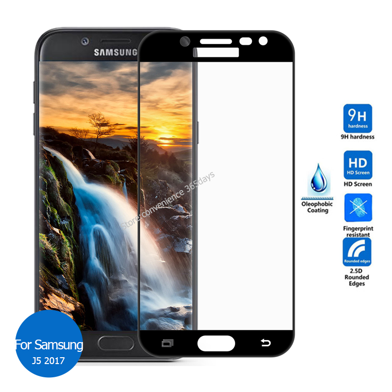 For Samsung Galaxy <font><b>J5</b></font> 2017 Full Cover Tempered Glass Screen Protector 9h Safety Protective Film On J 5 7 <font><b>530F</b></font> J530F Sm-J530F image