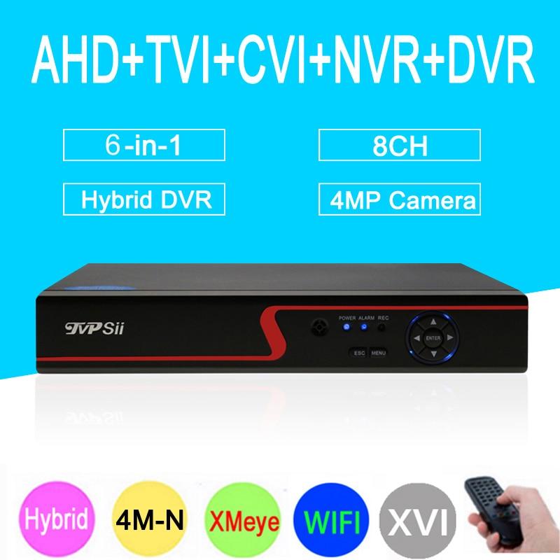 4MP CCTV Camera Xmeye Red Panel 4M-N Hi3520D 8CH 8 Channel Hybrid Coaxial Wifi 6 in 1 XVI TVI CVI NVR AHD CCTV DVR Free Shipping free shipping 10pcs aod484 d484 n channel fet