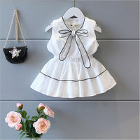 Girls Clothing Sets New Summer Girls Clothes Letter Love Flower Vest Short Skirt Kids Clothes Suits Children Clothing 1