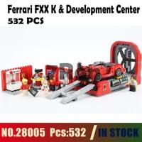 28005 Ferrari FXX K & Development Center Model building toys hobbies Compatible With lego city Blocks 75882 Educational Bricks