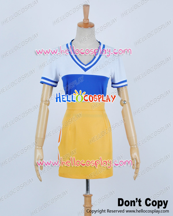 Japanese Anime Outfit One Piece Cosplay Nami Plain Dress Costume H008