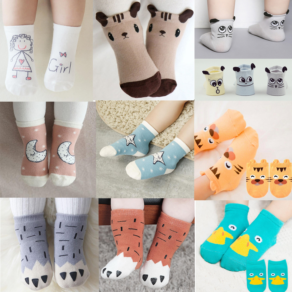 Kids Boys Girls Ankle Socks Rabbit Ears Print Spring Autumn Winter Baby Splicing Color Cotton Warm Soft Socks