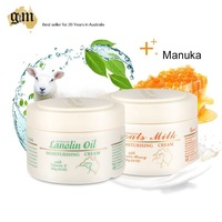 Australia GM Goats Milk Manuka Honey Lanolin Oil Cream Protect Skin Moisture Prevents Dehydration Soften Rejuvenate