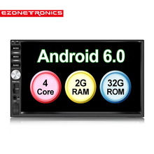 "7 ""Android6.0 Quad Core 2G + 32G doble 2Din para Nissan coche estéreo de Audio navegación GPS radio Bluetooth coche Multimedia No DVD"
