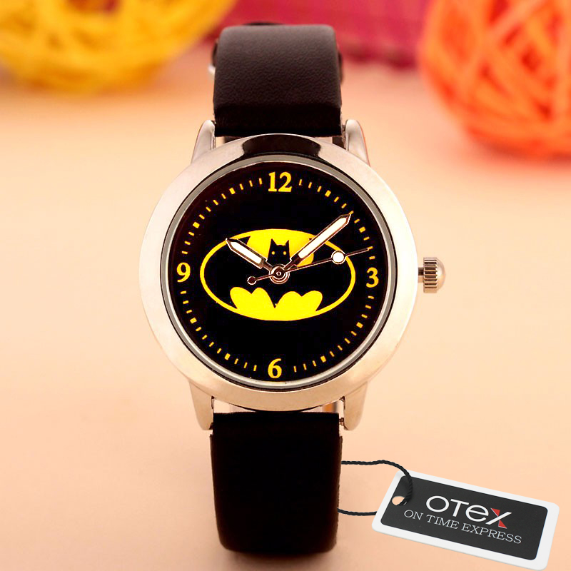 2016 New Batman Design Fashion women dress Analog Wrist quartz Watch Unisex watches women casual watch Children Watch 2016 new ladies fashion watches decorative grape no word design gold watch stainless steel women casual wrist watch fd0107