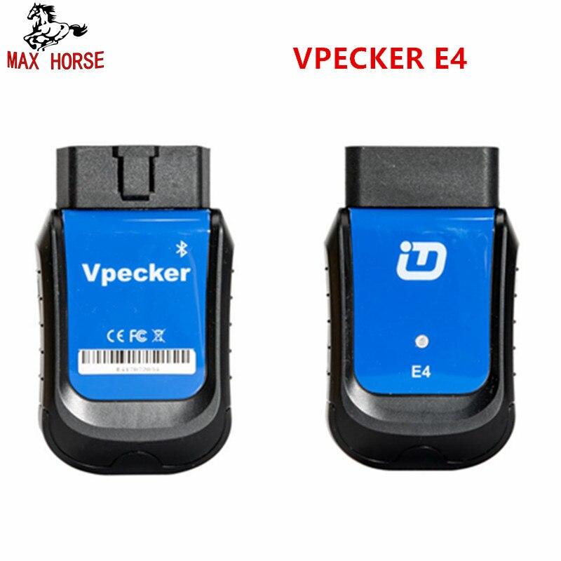 VPECKER E4 Telefone Bluetooth Ferramenta de Verificação OBDII para Android Suporte Do Sistema ABS Sangramento Completo/Bateria/DPF/EPB /Injector/Oil Reset/TPMS