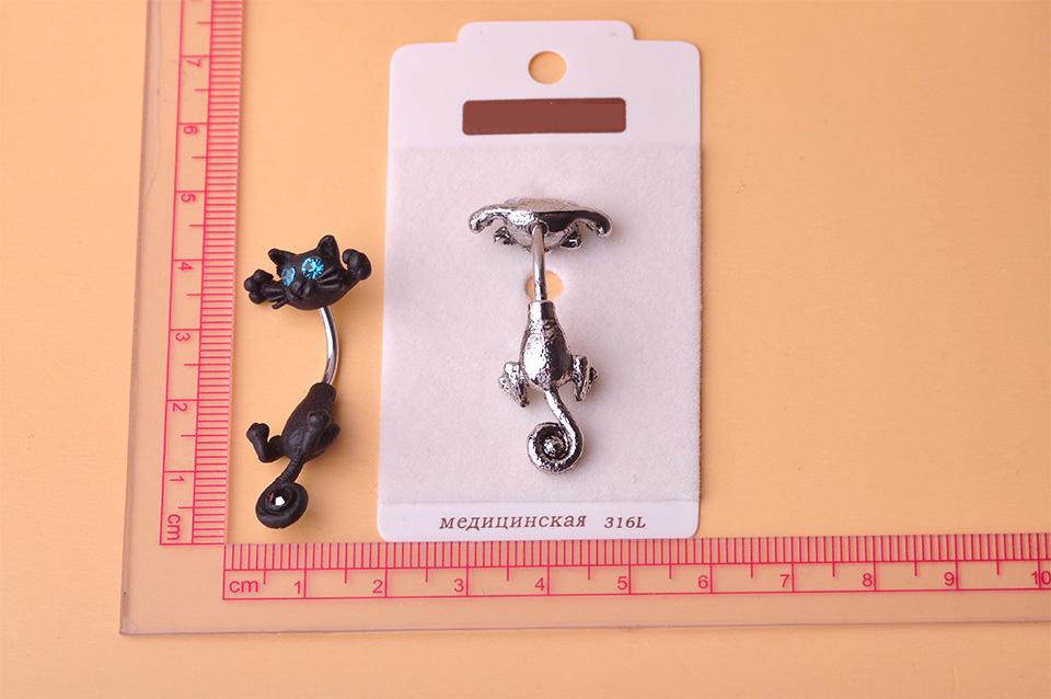 HTB1kn21SXXXXXa9aXXXq6xXFXXXA Bejeweled Cat Body Piercing Belly Button Ring Jewelry - 3 Colors