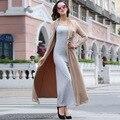 XXXL! Высочайшее Качество Марка женские Пальто Траншеи 2017 Весной Дамы Открыть Стежка Хлопок Спандекс Твердые Повседневная С Длинным Пальто пиджаки Плюс Большой