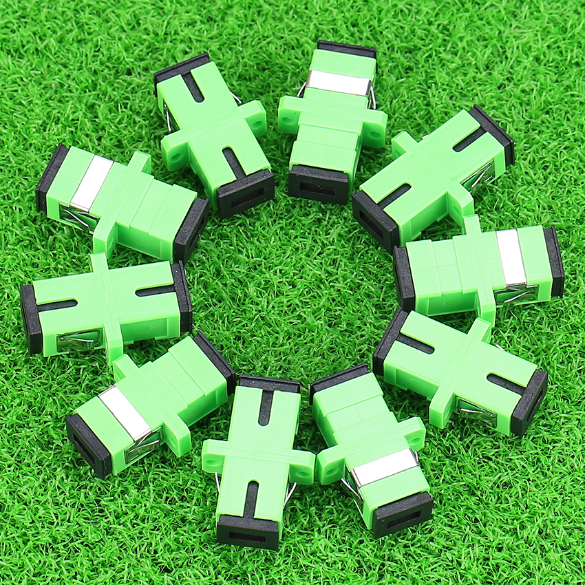 200Pcs NEW Hot Split Telecom Grade SC APC Optical Fiber Connector Adapter Coupler Flange Special wholesale 200Pcs NEW Hot Split Telecom Grade SC APC Optical Fiber Connector Adapter Coupler Flange Special wholesale