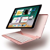 10 5 Inch 2 In 1 Aluminum Alloy Wireless Bluetooth Keyboard Protective Case With Colorful Backlight