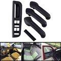 Hot Black Interior Door Grab Handle Cover Bracket Bezel Trim For VW Jetta Golf MK4
