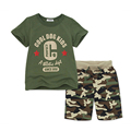 2-7 years children's clothing brand 1 set 100% cotton Camouflage summer boys clothing sets kids clothes boys