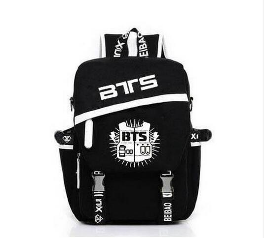 Korean Backpacks BTS Fans Mochila Printing Backpack kpop stars school bag boys girls Gift 2016 korean style fashion kpop black canvas bigbang fans bagpack g dragon punk rock backpack school bag for teenager girls xj366