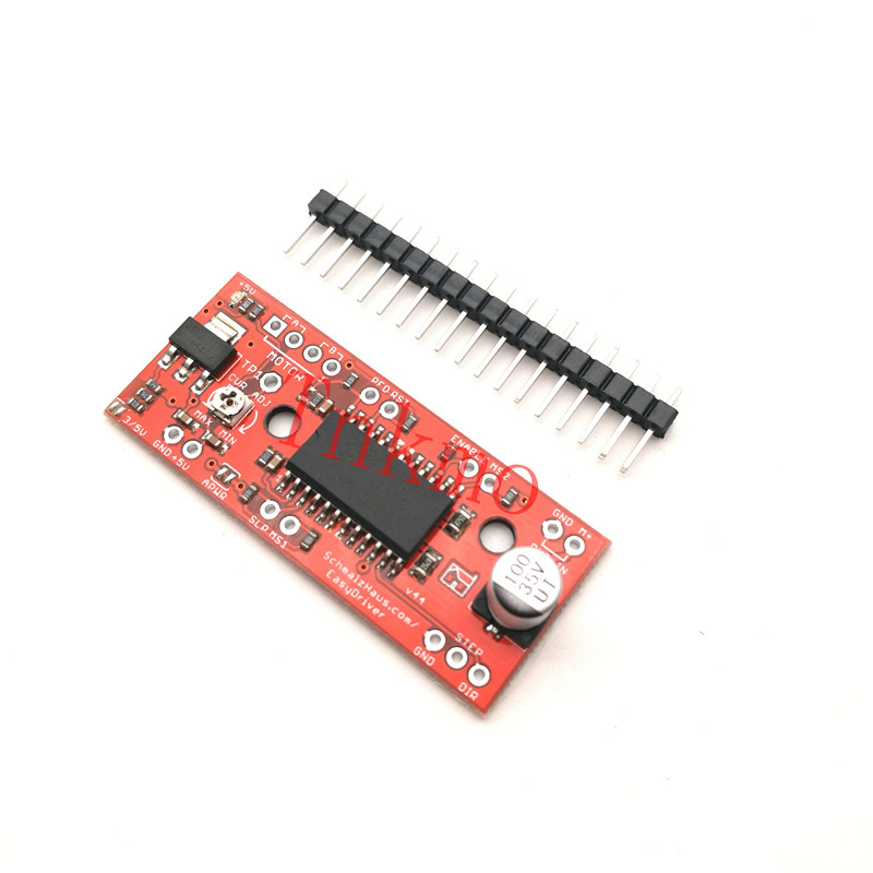 1Set EasyDriver Shield Stepping Stepper Motor Driver V44 A3967 For Arduino Support 4/6/8 Wire Steppers 7V-30V nema24 3nm 425oz in integrated closed loop stepper motor with driver 36vdc jmc ihss60 36 30