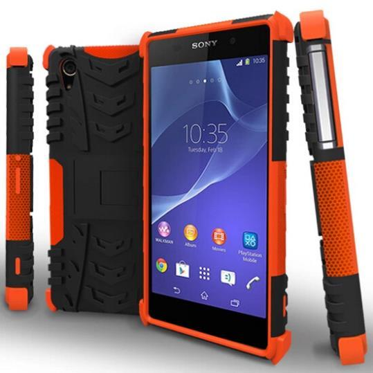 reputable site 3b7a9 ab2c1 US $432.0 10% OFF Armor Heavy Duty Hybrid Stand Case Cover For Sony Xperia  Z2 on Aliexpress.com   Alibaba Group