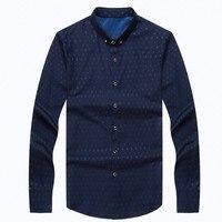 M 3XL New Arrive Business Male Cotton Shirt Turn Down Collar Long Sleeve Shirt