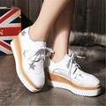 Бренд осенью 2016 женщины плоские туфли удобные большая база в Европе и на Британских панк квадратных обувь размер 35 до 39