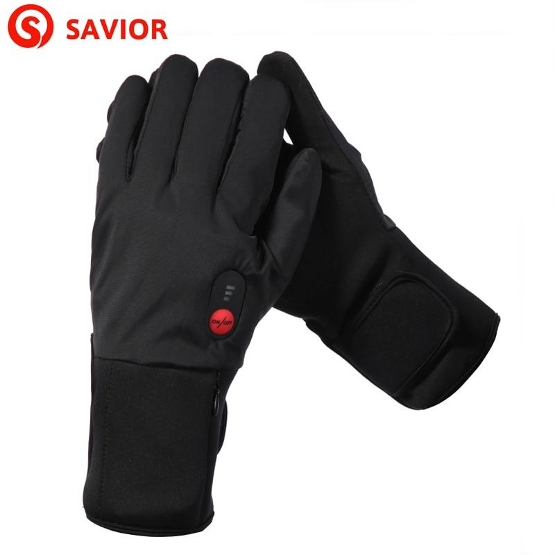 Savior s-11b model tipis sarung tangan pemanas listrik musim dingin ski bersepeda suhu rendah pria wanita hadiah natal tetap hangat