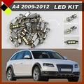 13Pcs Car LED Kit  Interior Lights Package 12V White Canbus Bulbs High Quality For 2009-2012 A4
