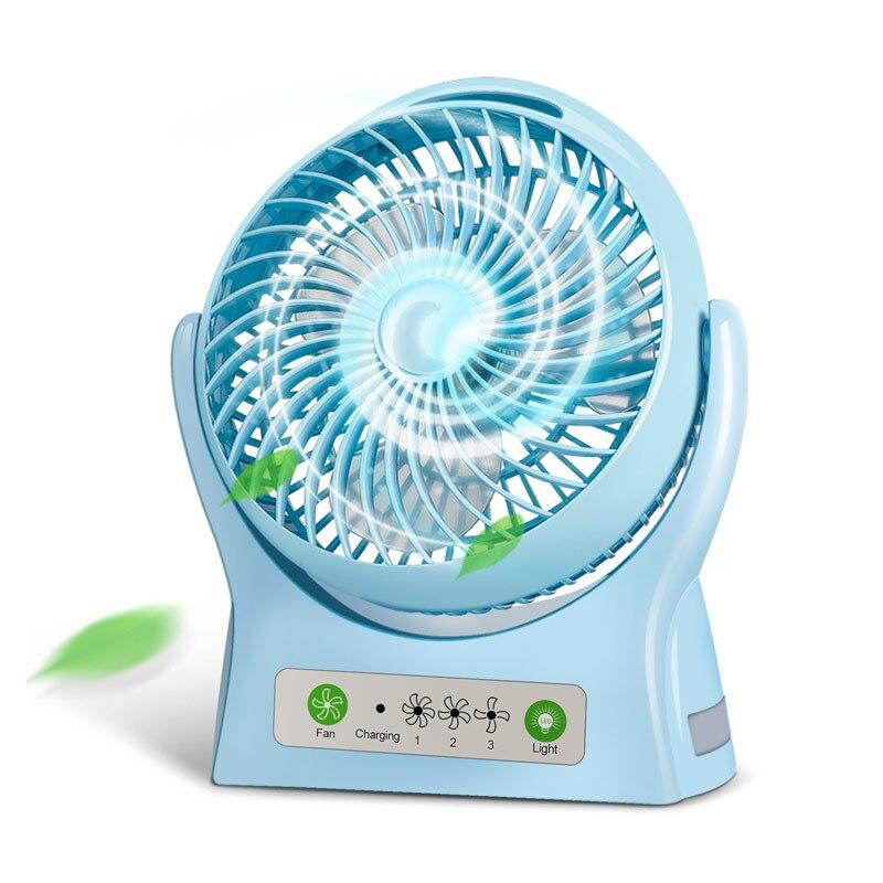 2016 Hot Sale USB Small Fan Mini Handheld Rechargeable Battery Type Large Wind Power Mute Fan for Student Dorm Room Office