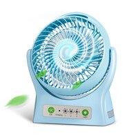 2019 Hot Sale USB Small Fan Mini Handheld Rechargeable Battery Type Large Wind Power Mute Fan for Student Dorm Room Office