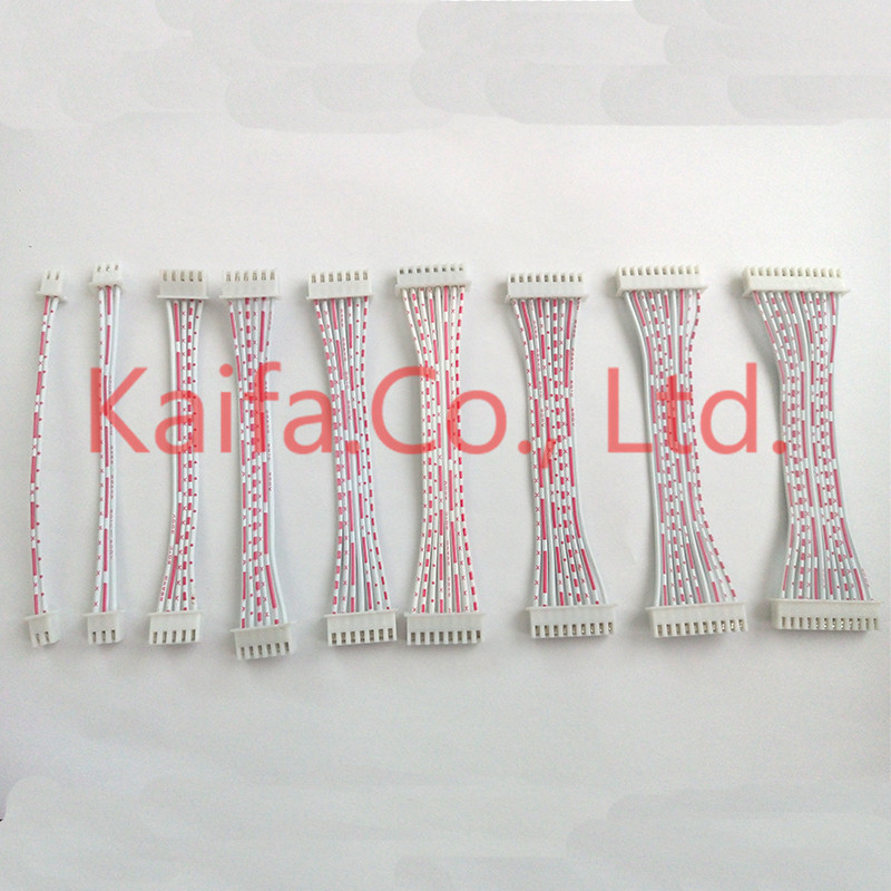 10pcs/lot JST 26AWG 10cm XH2.54 red white ribbon cable Double head same direction Plug 2 3 4 5 6 7 8 9 10 11 12P connector Wire цена и фото