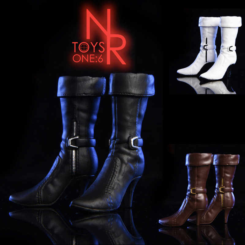 """1//6 Black Combat Boots For Ada Wong For 12/"""" PHICEN Female Figure Hot Toys ❶USA❶"""