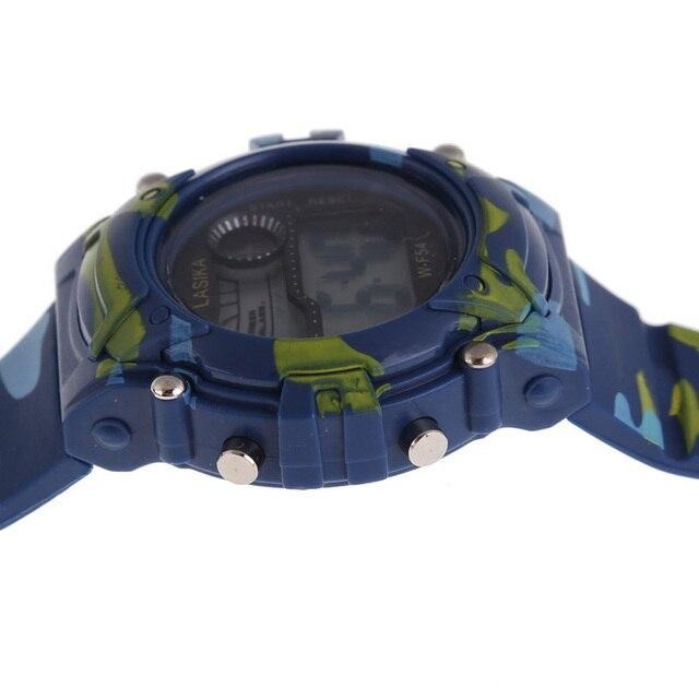 Vigilanza dei bambini Ragazzi Camouflage Nuoto Sport Digital Orologio Da Polso Intelligente orologi bambini orologio per boy
