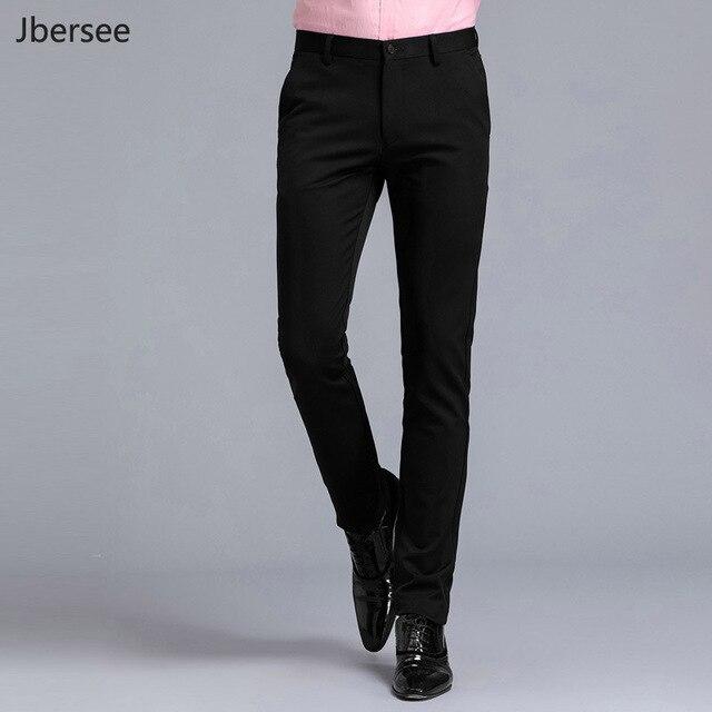 5d2db24dbf Pantalones de traje para hombre negro slim fit vestido Pantalones Oficina  Pantalones hombres tamaño grande negocio