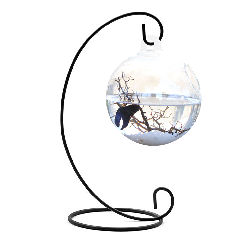 Online buy wholesale round glass fish bowl from china for Vase aquarium rond