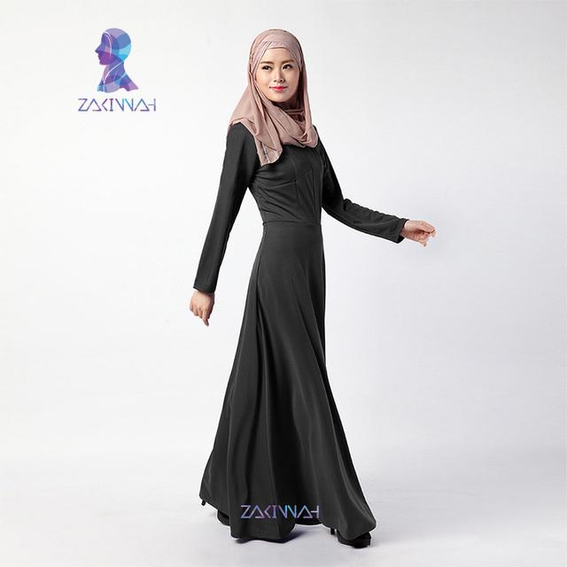 Nueva llegada de la manera diseños vestido de la muchacha simple vestidos largos Musulmán Islámico para las mujeres Musulmanes abayas dubai
