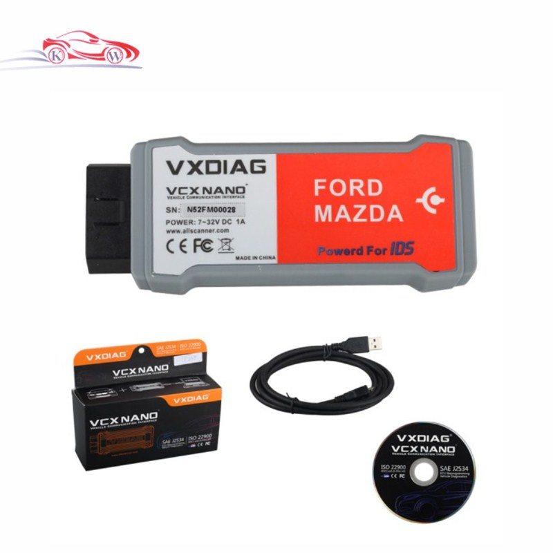 New Arrival VXDIAG VCX NANO Diagnostic Scanner IDS Latest Version V98 Allscanner VXDIAG For Ford Mazda Replacement For Ford VCM2