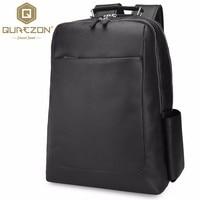 QUREZON бренд натуральной пояса из кожи рюкзак для мужчин 2018 дизайнер сумки Высокое качество Новый Повседневное черный сумка для ноутбука