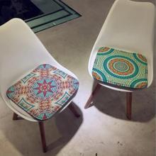 Cojín de silla de estilo bohemio, cojín de silla de comedor de oficina, cojín vintage, cojín para decoración del hogar, cojín para taburete