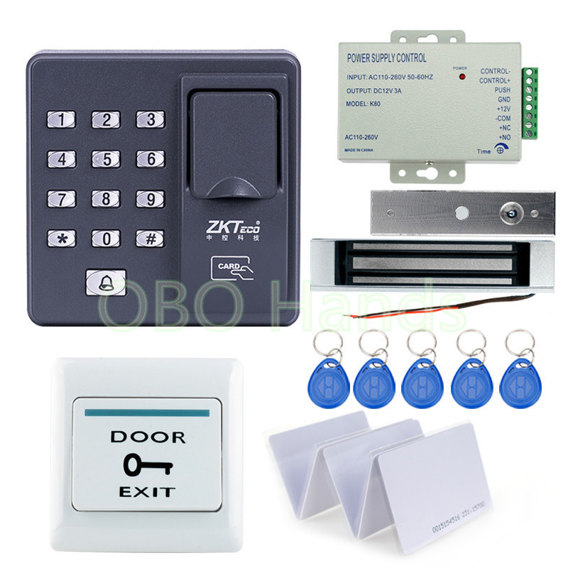 Full set Fingerprint+RFID EM cards  Door Lock Access Control Controller Kit for access control with magnetic lock digital electric best rfid hotel electronic door lock for flat apartment