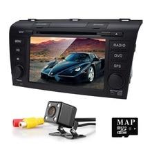 Wince 6.0 Car DVD Player Fit Mazda 3 GPS Navigation 2Din Steering Wheel 800*480 3G Radio Bluetooth TV DAB+BOX DVB-T Rearview CAM