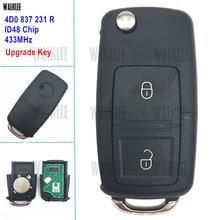 4D0837231R WALKLEE 433 MHz Chave Remota para Audi/4D0 837 231 R para A2 A3 A4 B5 A6 Quttro RS 1997-2002