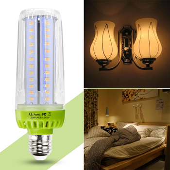 CanLing E27 Light LED Lamp E14 Bulbs 220V Bulb 10W 15W 20W Corn Lights 110V SMD5736 No Flicker Decor Home Lighting