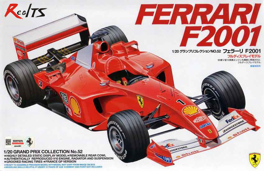 ФОТО RealTS Tamiya 20052 Automotive Model 1/20 Scale Car F2001 Scale Hobby Model Kits Free Shipping