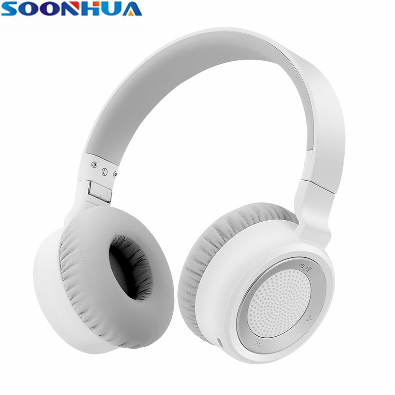 SOONHUA Bluetooth Headphone CSR 4.0 Wireless HIFI Stereo Bass Headset Earphone With 3.5mm Jack For Xiaomi iPhone Samsung Tablet new metal magnetic wireless bluetooth headphone sport headset hands fress hifi earphone with mic for iphone samsung phones