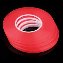 2mm 50M Strong Acrylic Adhesive Red Film Clear Double Sided Tape Sticker for Mobile Phone LCD Pannel Display Screen Hot Sale