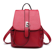 Petrichor Chain Lock Anti-theft Large Capacity Women Backpack Synthetic Leather Laptop Female Purse Ladies Shoulder Bag