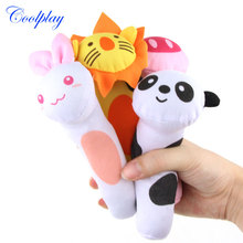 Coolplay 2PCS Animals Infant Baby Rattles Soft Plush Toys Kids Handing
