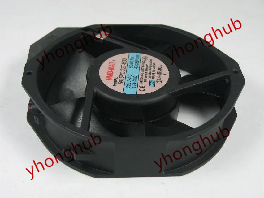 NMB-MAT 5915PC-22T-B30 D00 AC 220V 40/38W 172x150x38mm Frequency converter Fan nmb mat new 5915pc 20w b30 b00 ac 200v 34w 172x150x38mm server round fan