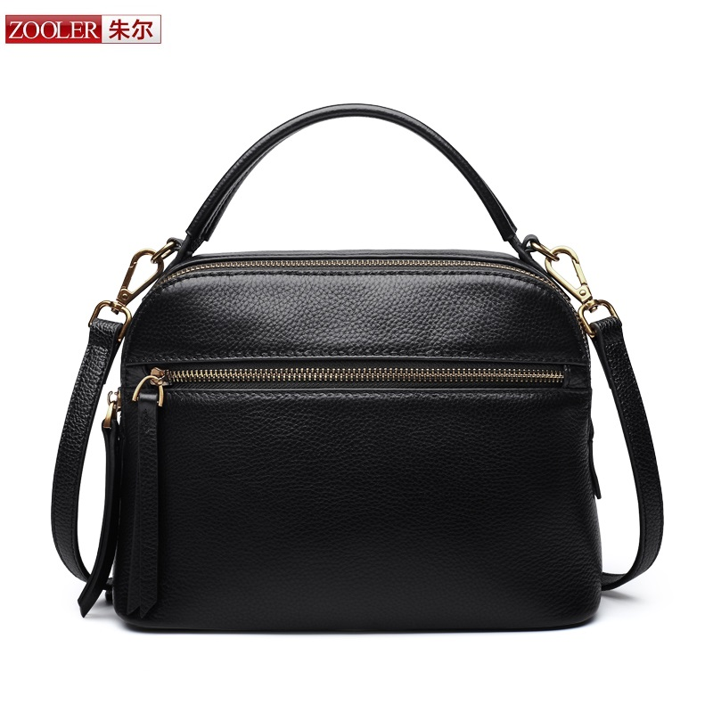 New product sales Zooler Brand zipper cowhide bag top handle shoulder bag simply solid genuine leather bag women bag bolsas#C108 quantum structures